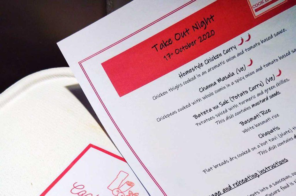Cook Eat Joy Takeout menu