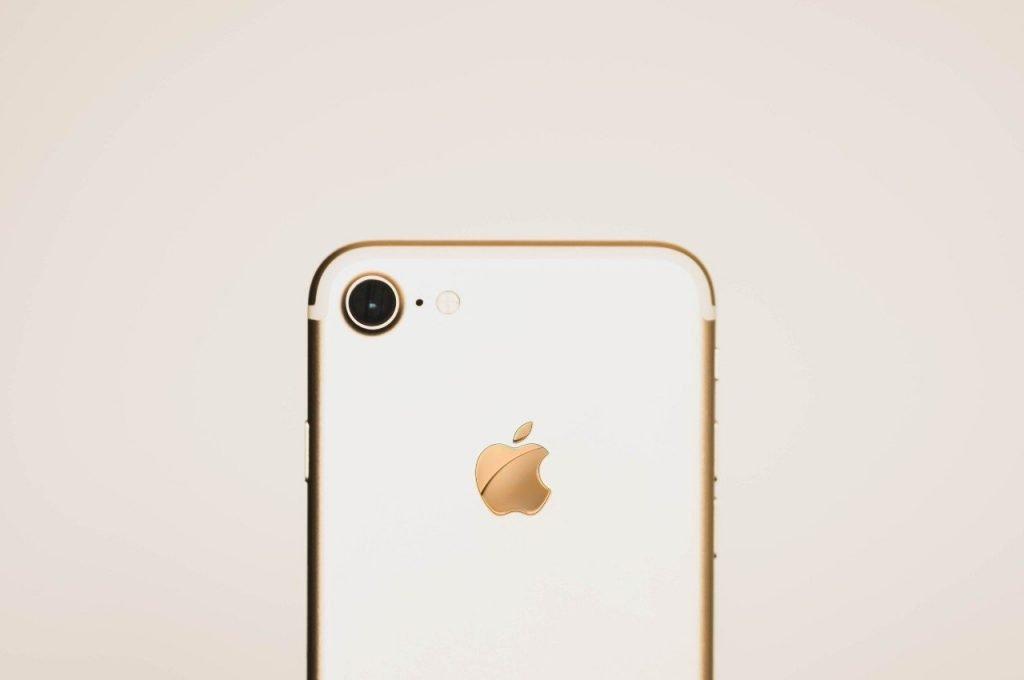 Apple Logo on phone