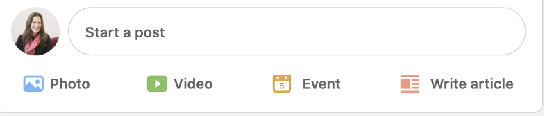 LinkedIn Post bar